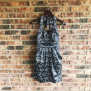 { RUBY ROX } Black/White Lace Printed Mini Dress